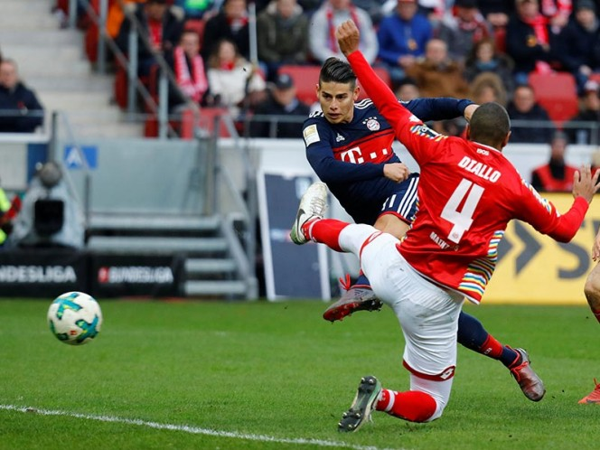 Golazo de James en triunfo del Bayern