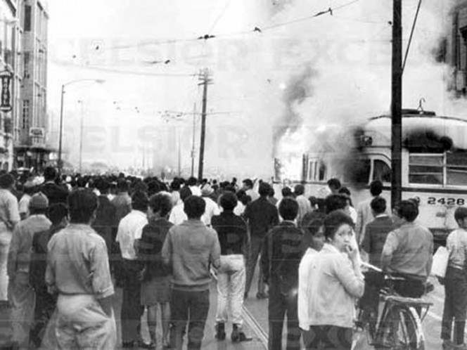Histórico 1968: frenan manifestaciones y la violencia cunde