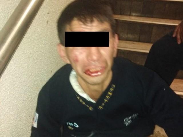Cerca de las 11:00 de la mañana de este martes un sujeto fue detenido en la estación Morelos