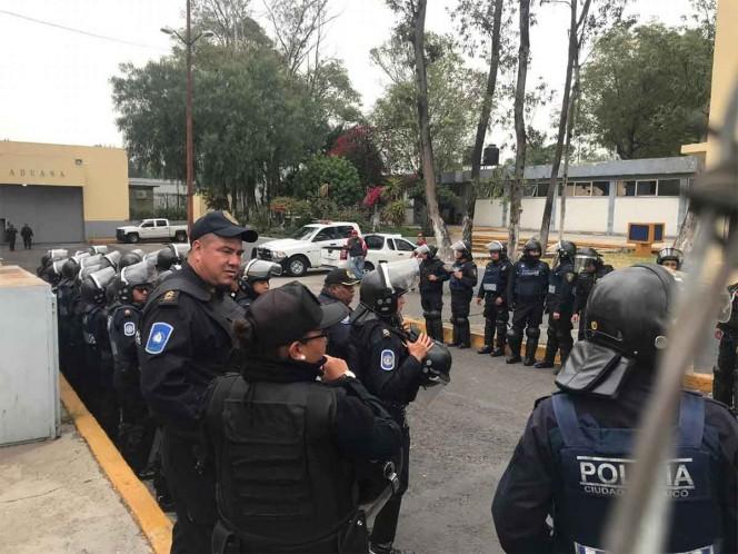 Elementos de la Secretaría de Seguridad Ciudadana apoyaron en un intento de motín registrado este jueves en el Reclusorio Oriente. Foto: Jorge González