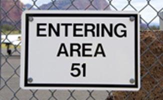 Area 51 sign