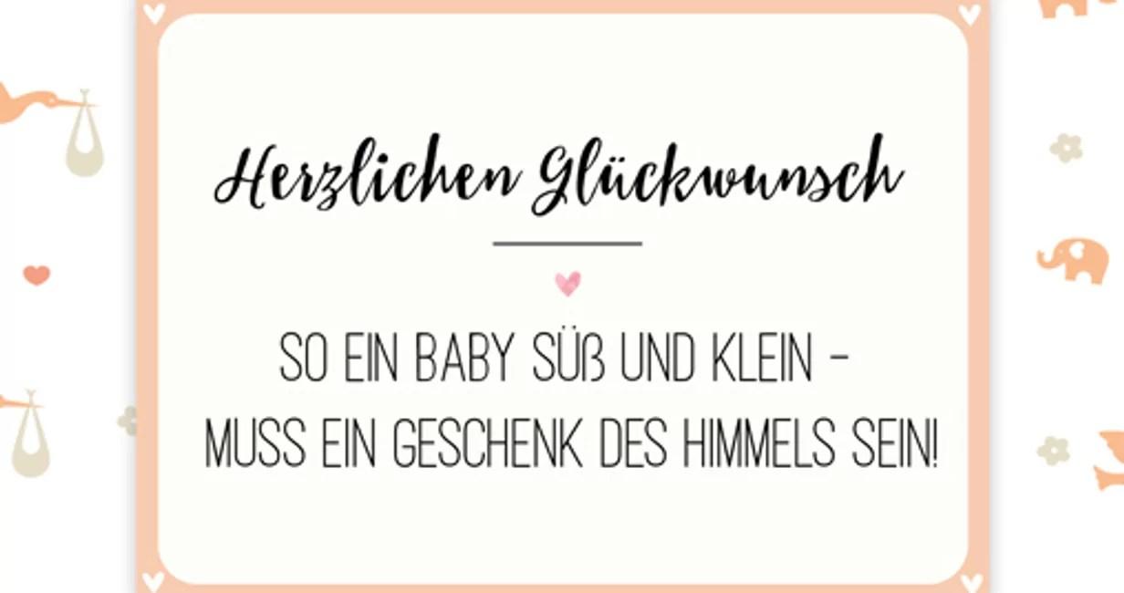 40 Spruche Fur Neugeborene Jungs Und Madchen Familie De