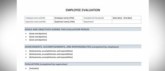 Doc607787 Staff Review Templates Free Employee Performance – Free Performance Review Templates