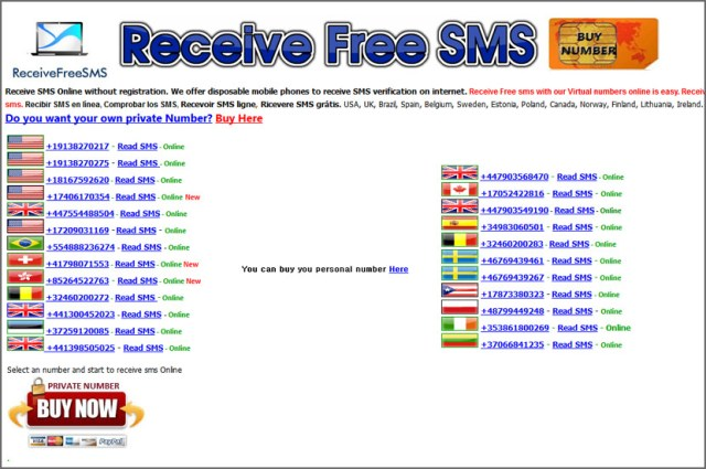 receive free sms service online registration ReceiveFreeSMS - Free Temporary and Disposable Number