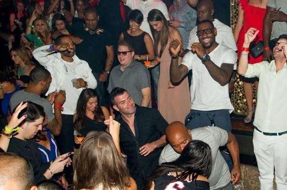 LeBron James Having Fun At The Club