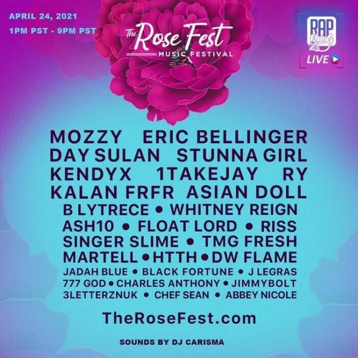 """image Introducing """"The Rose Fest"""" First Post-Covid Music Festival APRIL 24"""