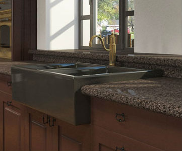 Sophisticated And Functional Stone Kitchen Sinks