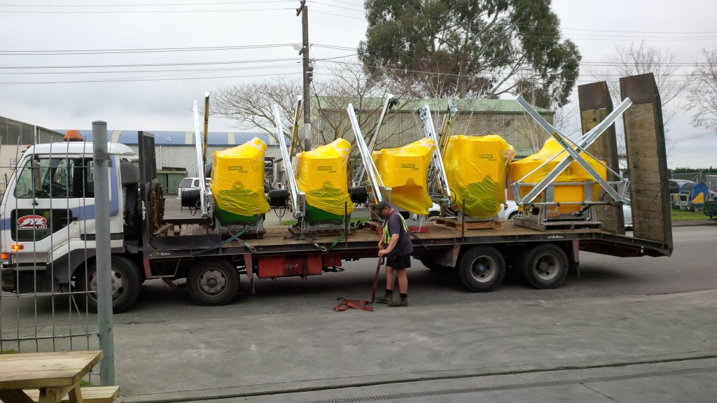 Another delivery of the Popular Katipo sprayers