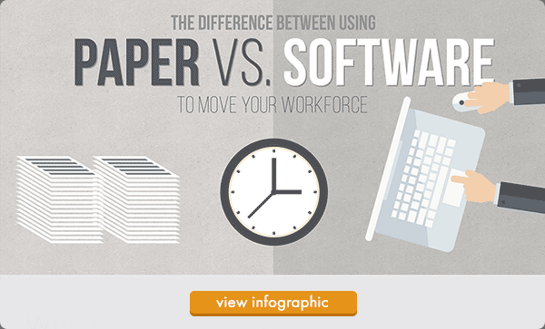 The Difference Between Using Paper vs. Software to Move your Workforce