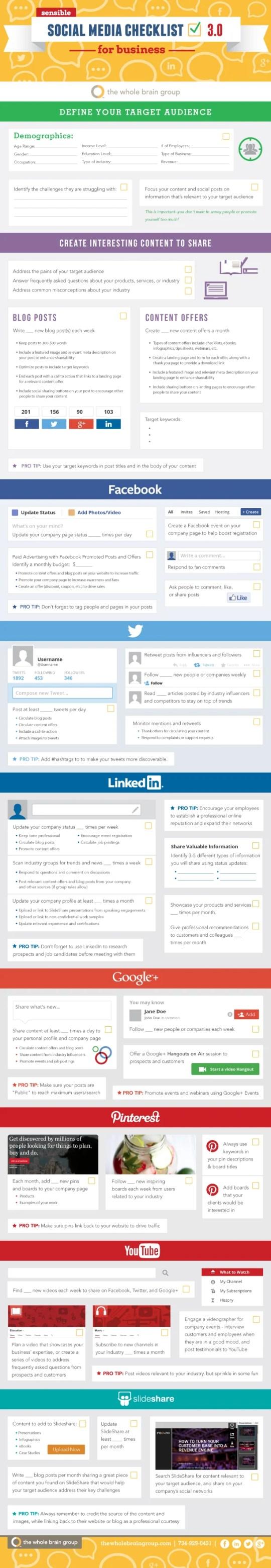 Sensible Social Media Checklist for Business v.3.0 [INFOGRAPHIC]