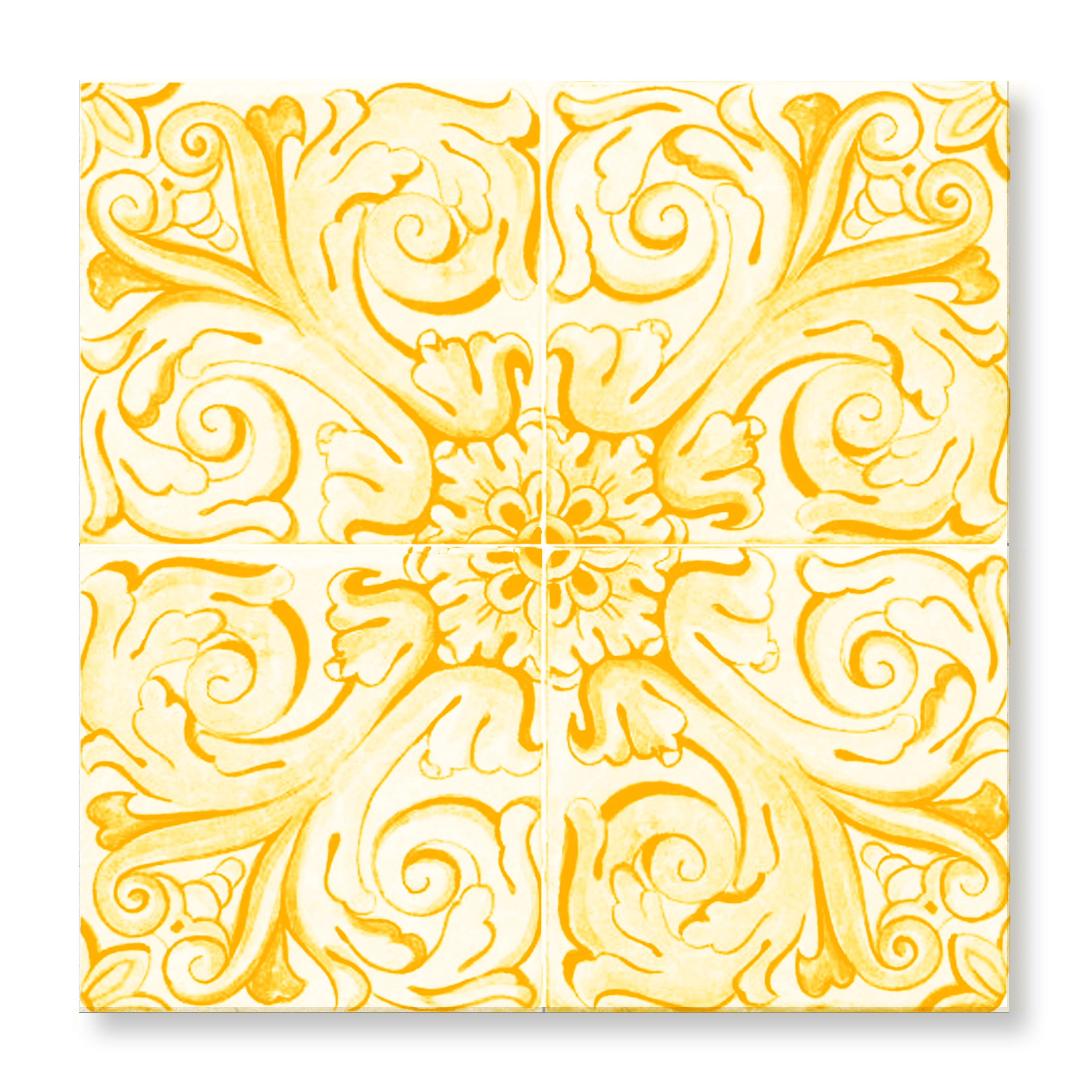 T cle tilevera 17thc fleur de lys yellow300 P