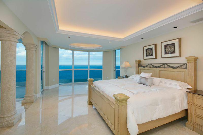 The penthouse at the Capobella building in Miami Beach