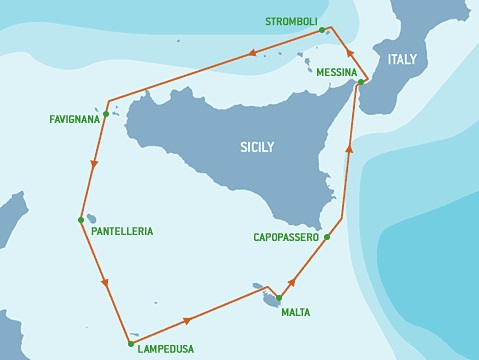 Rolex_Middle_Sea_Race_Route