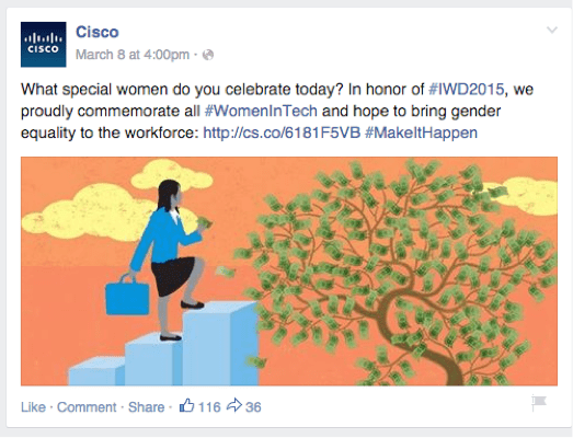 Cisco Relevant Post Facebook Tips