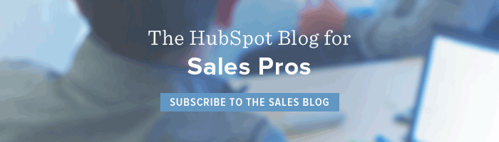 subscribe to HubSpot's Sales Blog