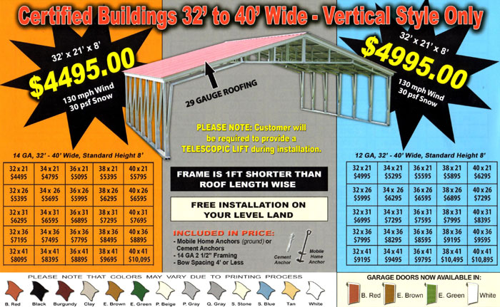 Alans Factory Outlet Has Metal Buildings Prices Are Low And Quality Is High