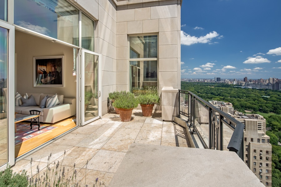On the 38th floor of 15 Central Park West, this gorgeous apartment boasts 2,846 interior square feet of luxurious living space and a coveted 211-square-foot terrace overlooking Central Park.