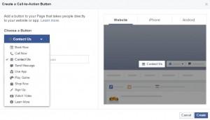 Facebook Call To Action Button Set Up