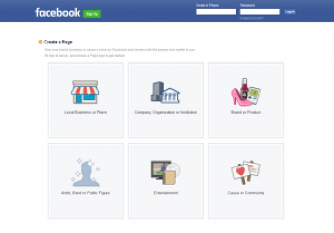 Facebook Create a Page