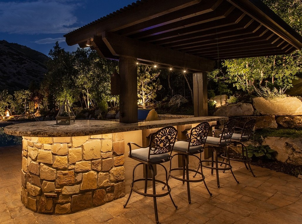 outdoor kitchen lighting ideas