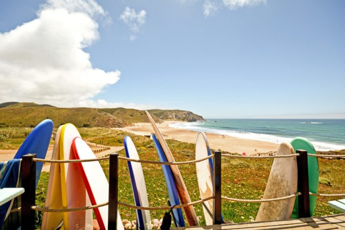 Surfboards-and-Beach-Sagres-Portugal