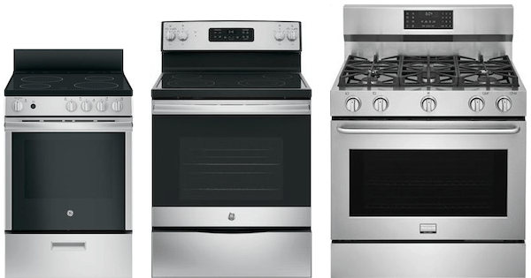 stove sizes typical range dimensions