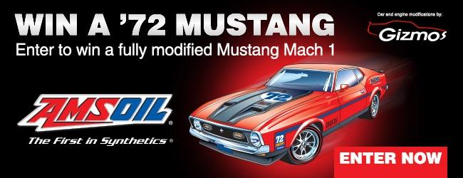 Enter to win a '72 Mustang.