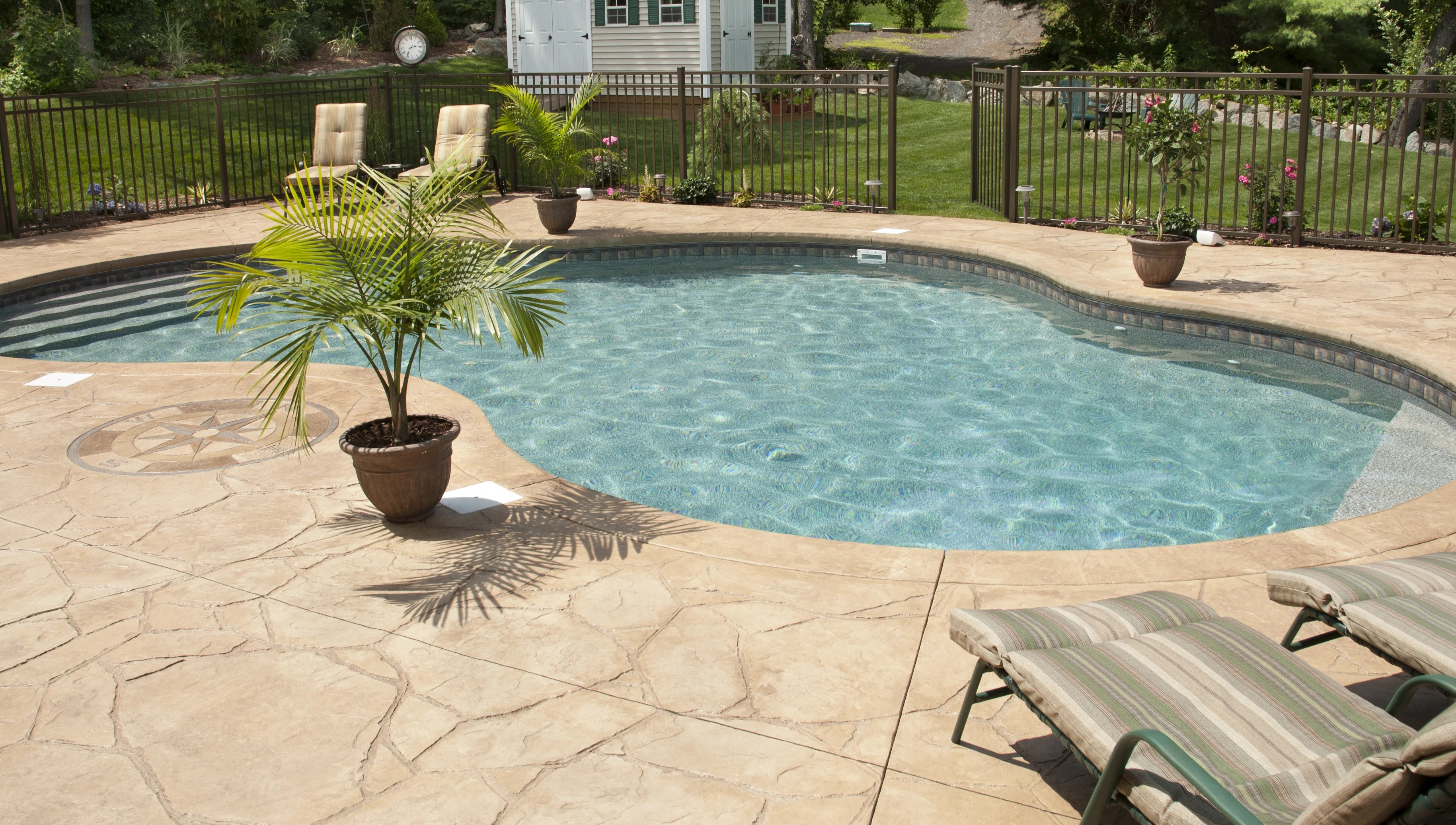 concrete pool deck pros and cons