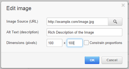include a keyword-rich description of the image