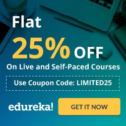 Edureka - Flat 25% OFF On Live Courses