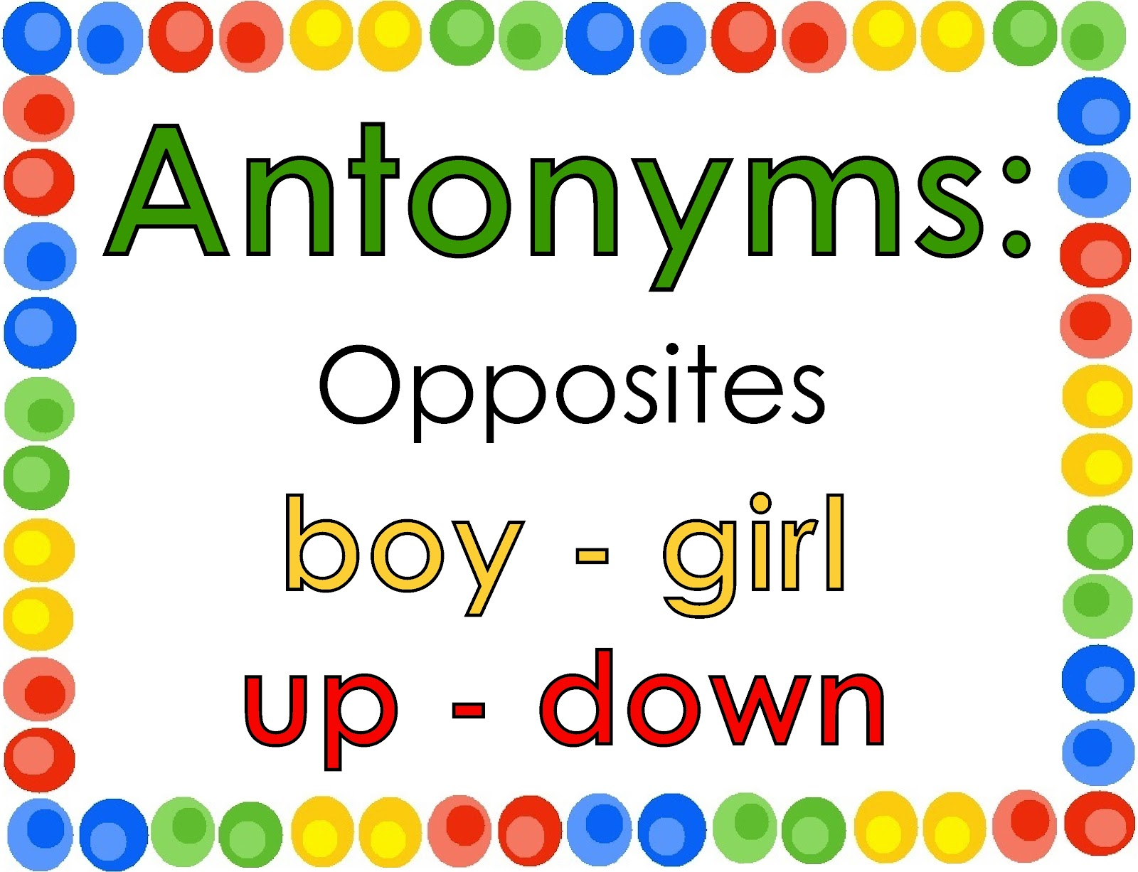 Antonimos En Ingles