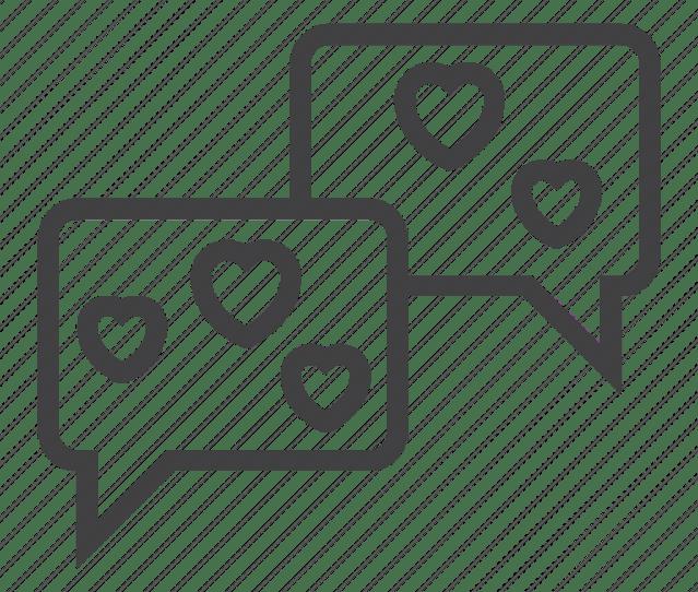 Bubbles Chat Hearts Love Speech Icon