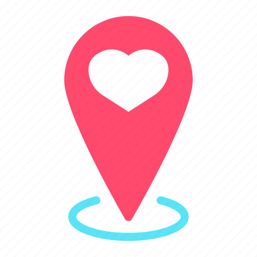 Heart Location Love Map Pin Pointer Valentine Icon