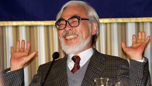 Японский режиссер-аниматор Хаяо Миядзаки. Архивное