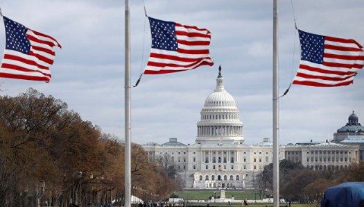 Вид на здание Капитолия в Вашингтоне