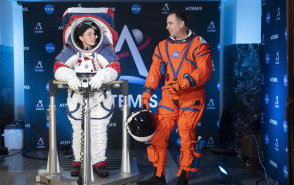 NASA Unveils New Spacesuits for Future Moon Mission - Video