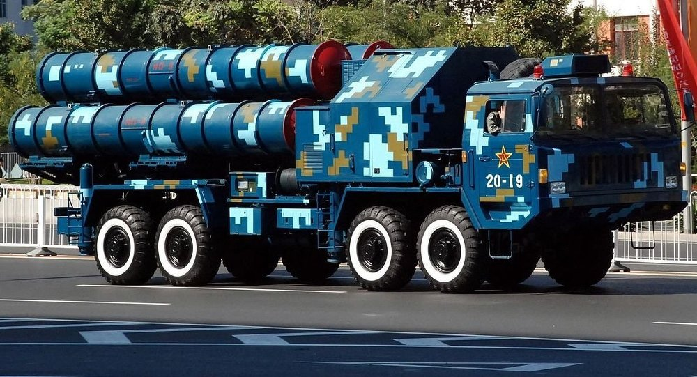Chinese S-300 (HongQi 9 [HQ-9]) launcher during China's 60th anniversary parade, 2009