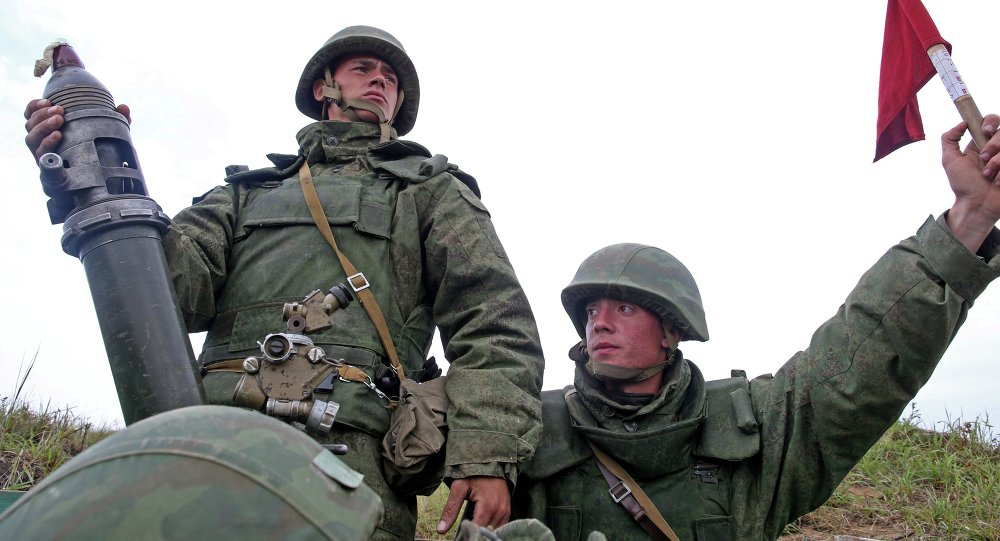 Military exercise at Baltic Fleet base in Kaliningrad Region