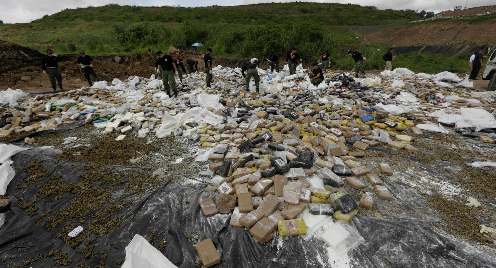 Ecuador authorities seized about a ton of cocaine en route to Galapagos Islands. The country has become a transit territory for drug trafficking because of its location between Colombia and Peru, two major cocaine-producing countries.