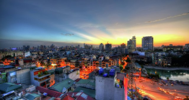 The Sunset in Hanoi