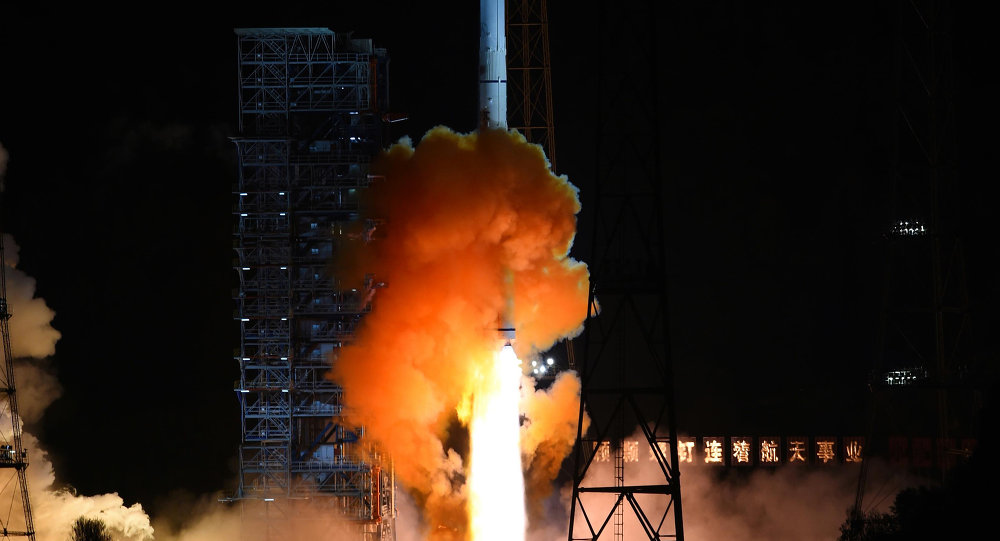 File Photo: An unmanned spacecraft is launched atop an advanced Long March 3C rocket from the Xichang Satellite Launch Center in southwest China's Sichuan Province.