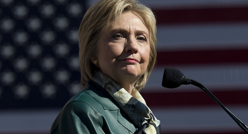 Democratic Presidential hopeful Hillary Clinton speaks during a campaign rally in Alexandria, Virginia on October 23, 2015