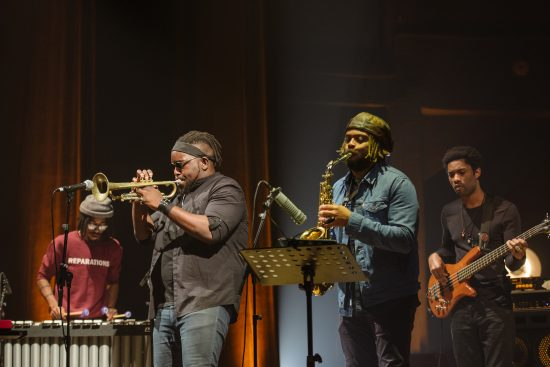 The Marquis Hill Blacktet at the 2018 JazzMi festival in Milan, Italy