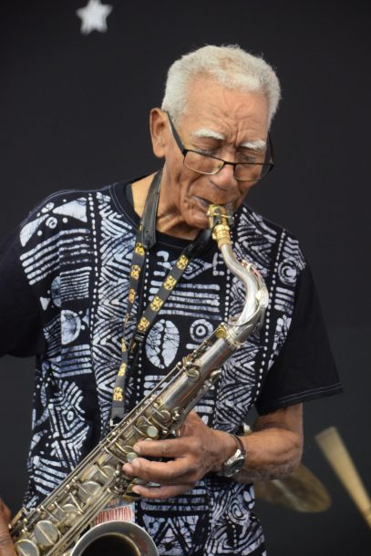 Kidd Jordan at the 2019 New Orleans Jazz & Heritage Festival