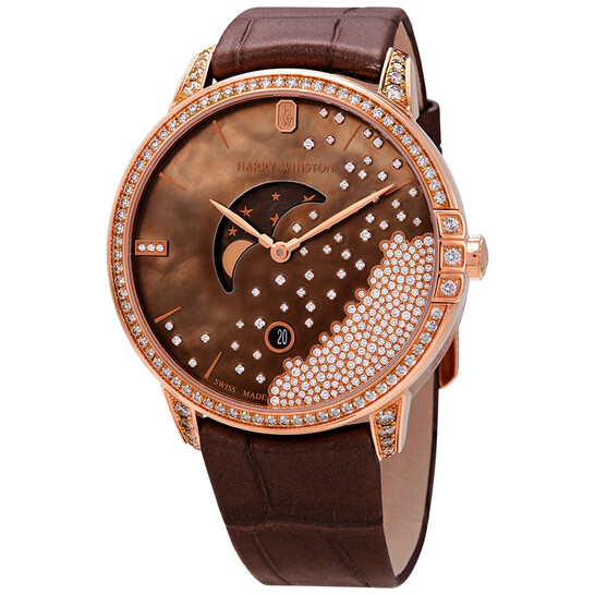 Harry Winston Midnight Men S 18k Rose Gold Diamond Watch Midqmp39rr004 Midqmp39rr004 Watches Harry Winston Jomashop