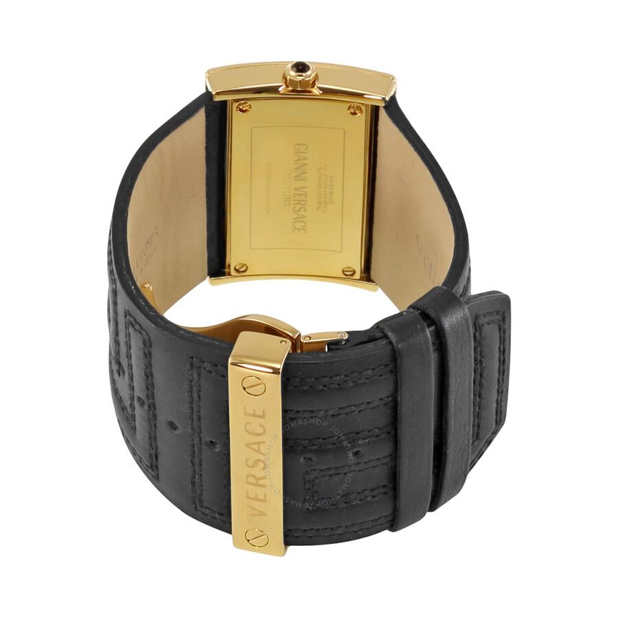 Imagini pentru Versace V-Couture Oriz Diamond Dial Black Leather Ladies Watch 71Q70SD01F-S009