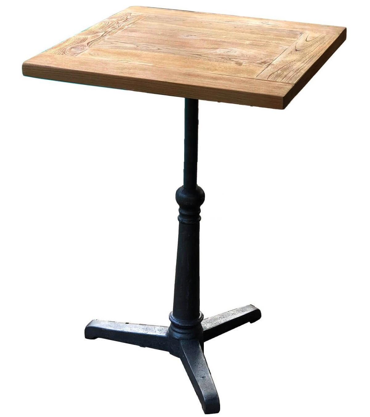 table haute carree bistrot 60 cm