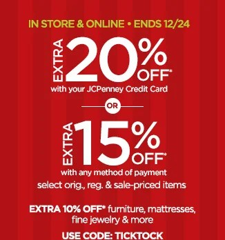 JC Penney Hurry There Is Still Time To Shop For