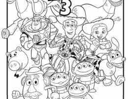 Dessin Disney Toy Story On Log Wall