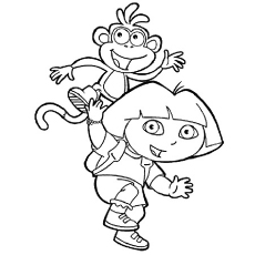 dora coloring pages printable # 4